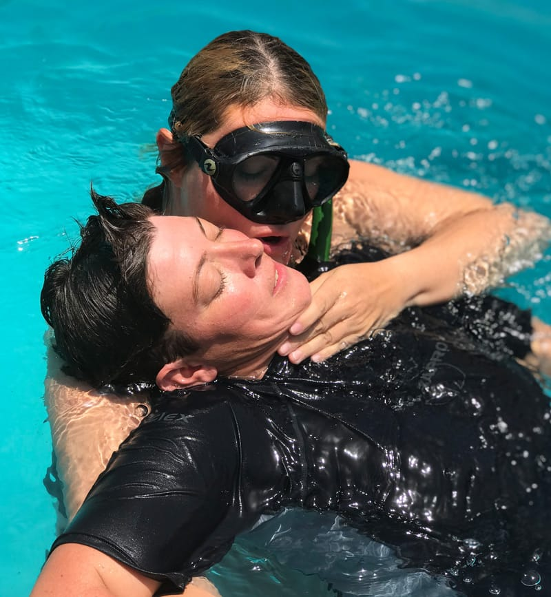 Freediving rescue exercises